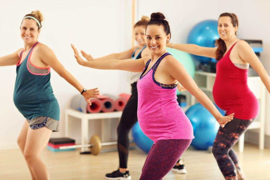 Ejercicios aeróbicos en el embarazo