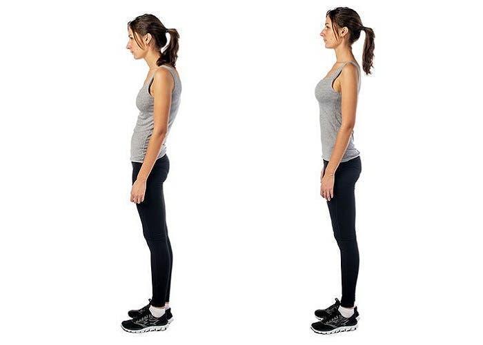 hombros adelantados postura