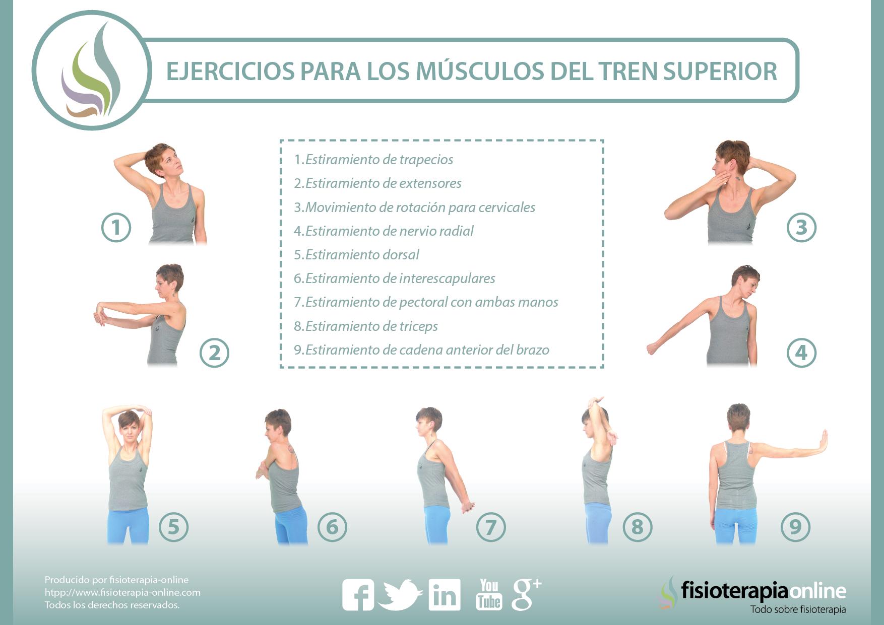 Cuidados y ejercicios para el tren superior | FisioOnline