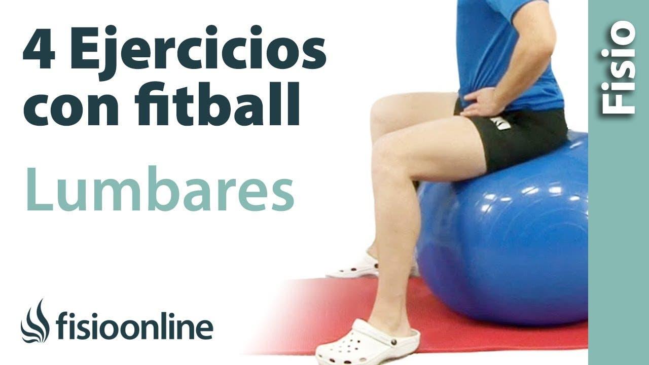 Ejercicios con Fitball o balón de pilates para trabajar la movilidad y  flexibilidad lumbar  fa9cc8ff7e99