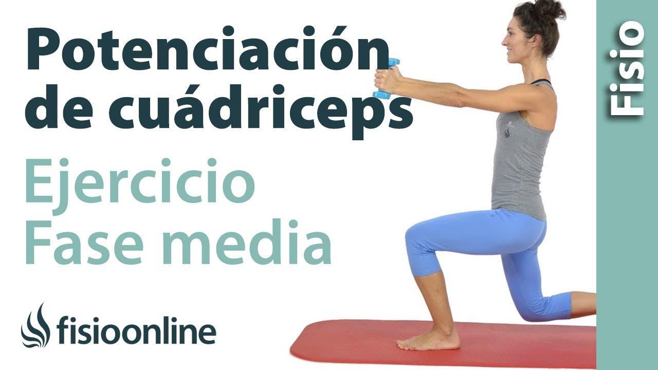 Rodilla rehabilitacion ejercicios cuadriceps