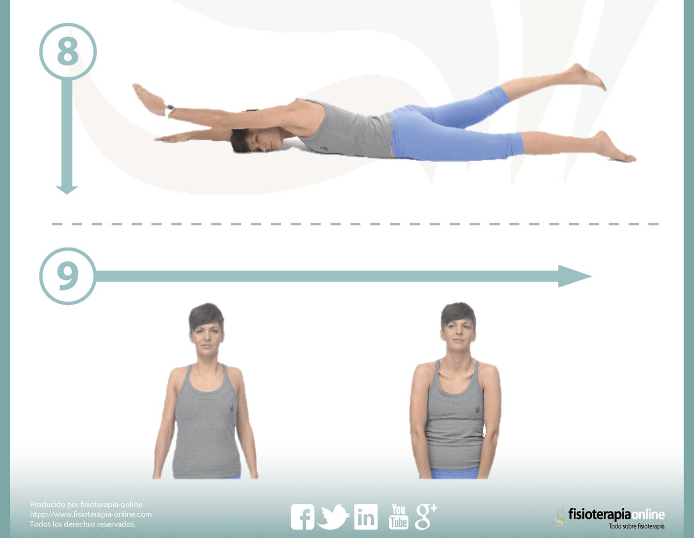 Reeducación postura de hombros caídos