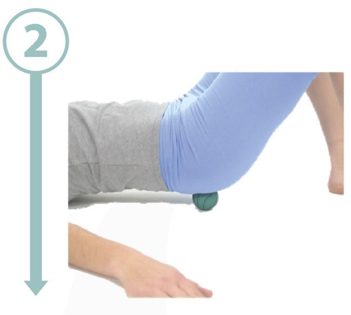 masaje de nalga con pelota