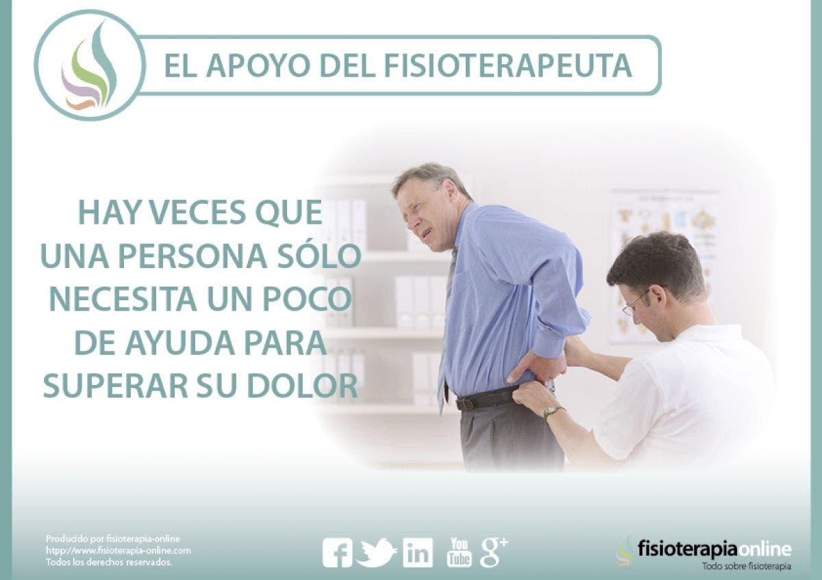 El apoyo del fisioterapeuta