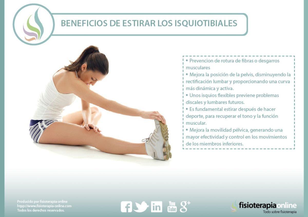 Los beneficios de estirar correctamente los isquiotibiales