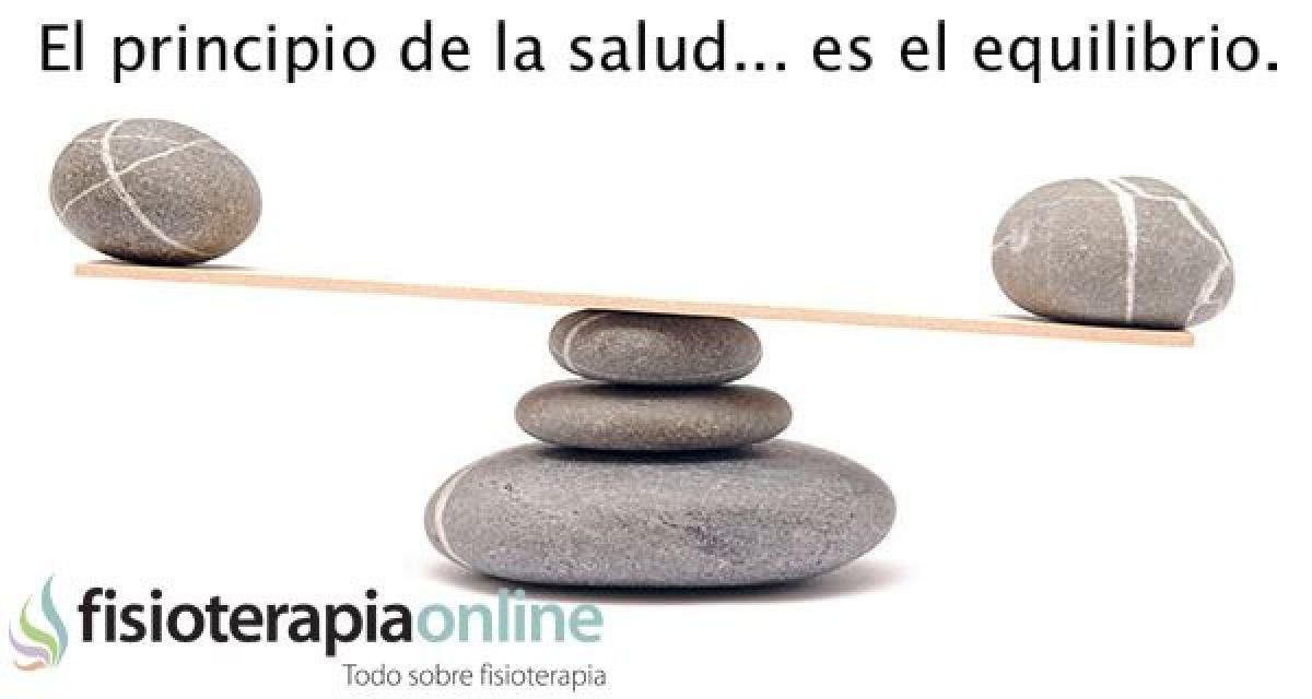 El equilibrio es esencial en la vida, la disfunción muestra el desequilibrio de la salud