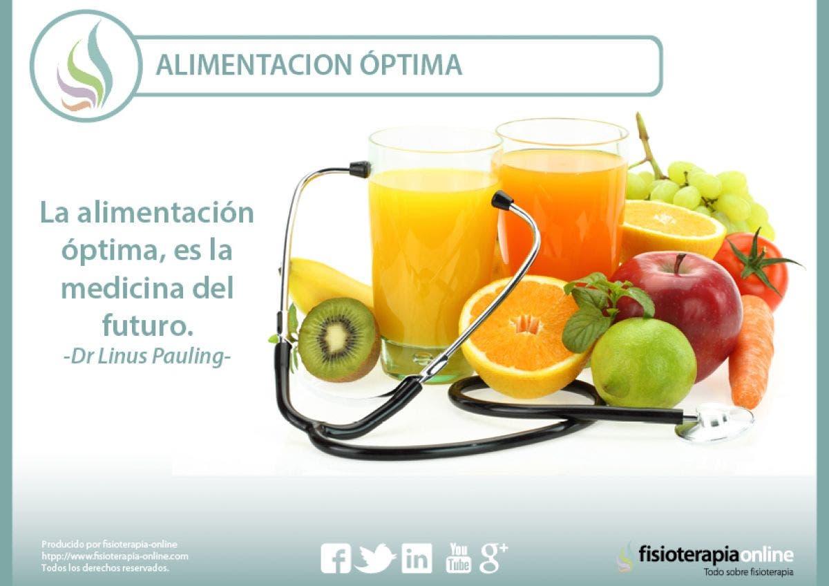 La alimentación óptima es la medicina del futuro