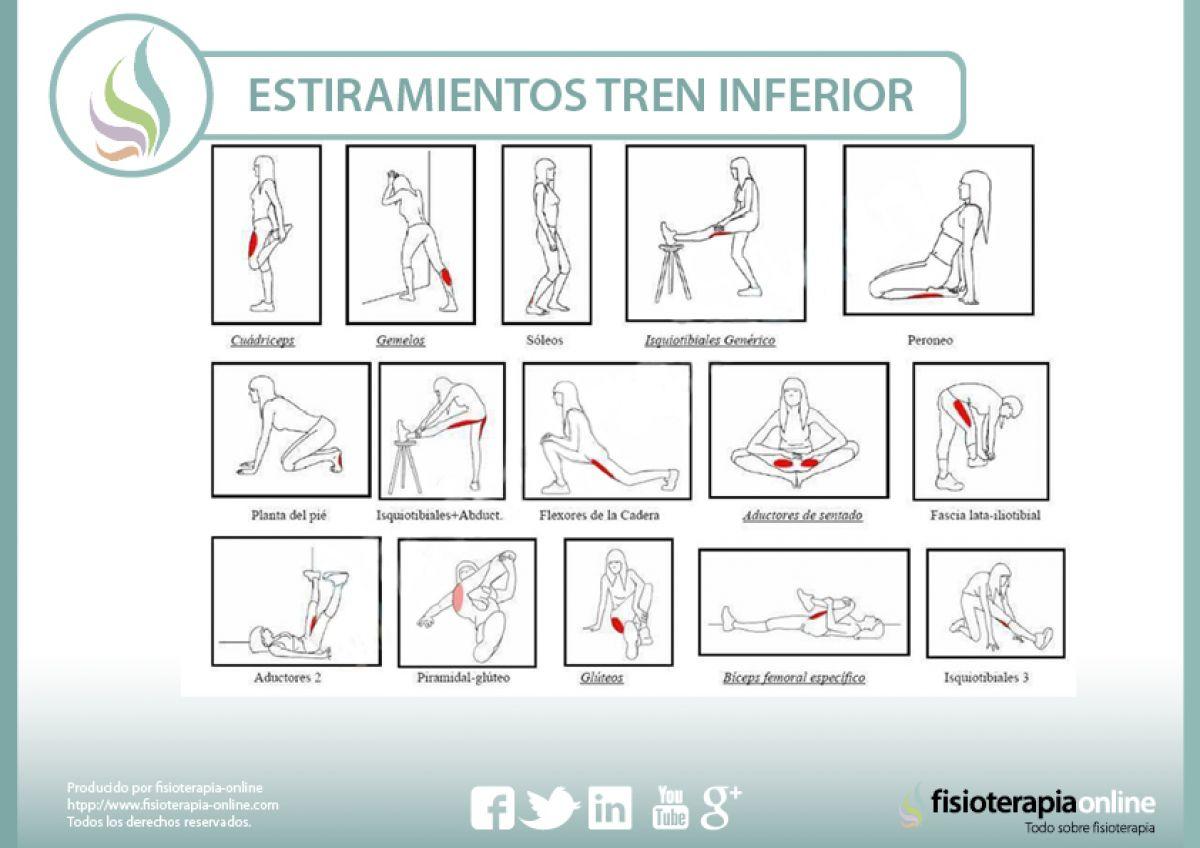 No pierdas el tren inferior, realiza estos sencillos estiramientos y mejora los dolores y sobrecargas de tus piernas