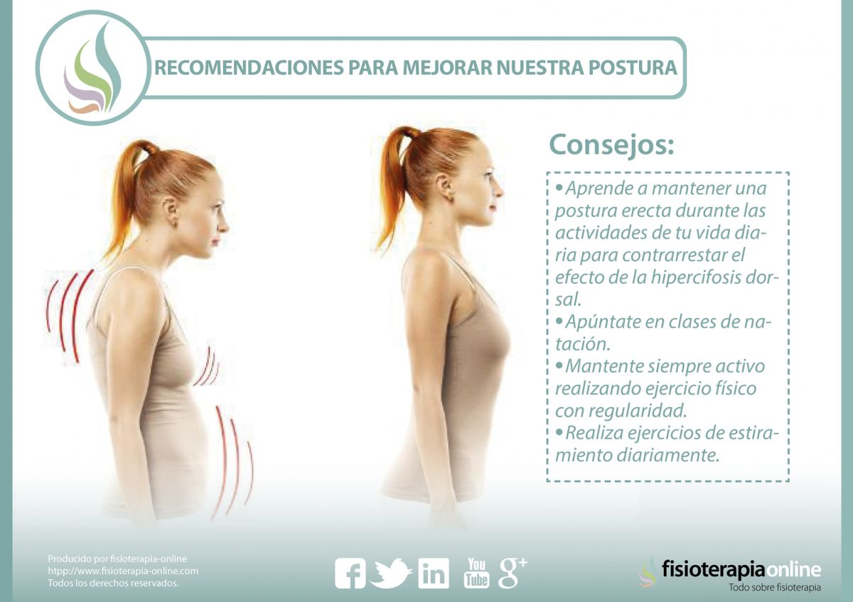 """Consejos, ejercicios, recomendaciones para mejorar nuestra postura y corregir la """"chepa"""" o hipercifosis dorsal."""