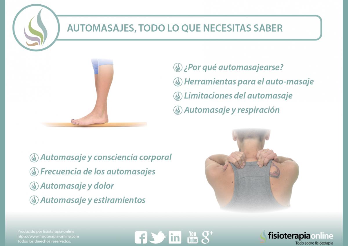 Aprende a cuidarte con esta serie de automasajes, para tratar tus dolores y lesiones