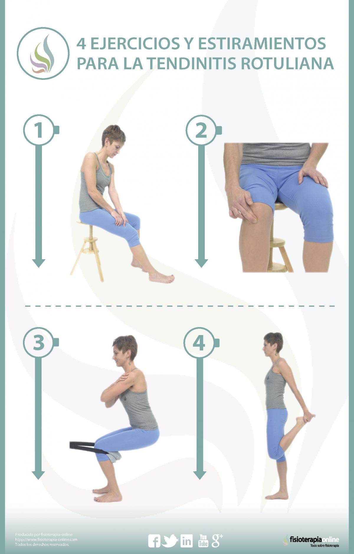 4 ejercicios y estiramientos para la tendinitis rotuliana o del saltador