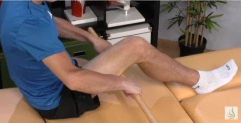 masaje isquios con palo