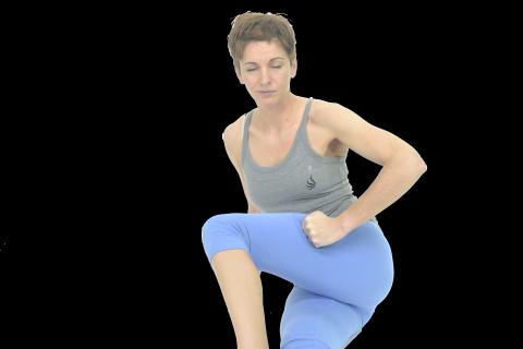 masaje de fascia lata con puño