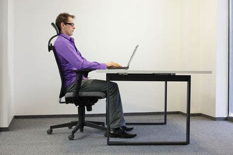 fisioterapia y ergonomía. Postura corporal en el trabajo