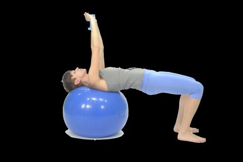 Ejercicios pilates fitball espalda