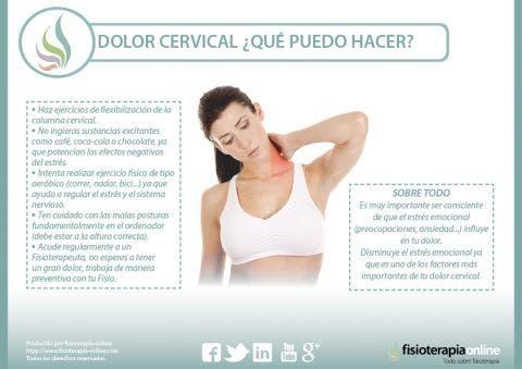 Cervicalgia o dolor de cuello o cervical. Todo lo que necesitas saber.