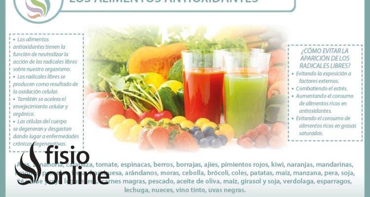 Alimentos antioxidantes. Una defensa para la salud y contra el envejecimiento