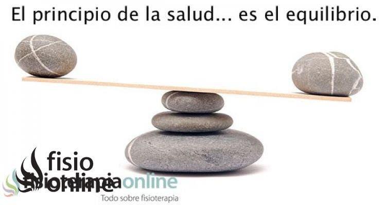 El principio de la salud, es el equilibrio.