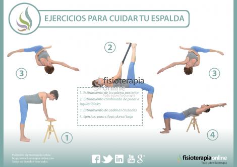 Te presentamos unos tiles ejercicios para cuidar tu espalda pru balos fisioonline - Ejercicios en piscina para hernia discal l5 s1 ...