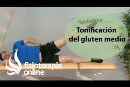 Ejercicio de tonificación del gluten medio. Estabilización lumbar