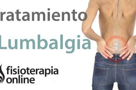 Lumbalgia o lumbago.Tratamiento con ejercicios, estiramientos y masajes.