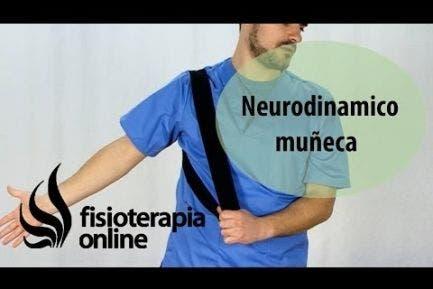 Ejercicio neurodinamico para el dolor de muñeca.