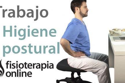 Higiene postural en el trabajo. Ejercicios de váscula pélvica