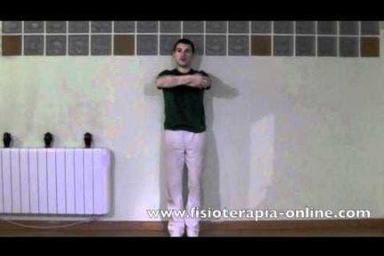 Corrección y consciencia de la postura corporal contra la pared.
