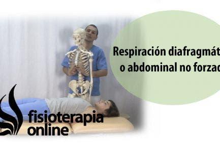 Respiración diafragmática o abdominal no forzada.