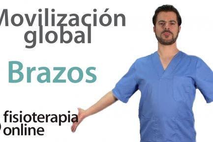 Movilizacion global de sistema nervioso de los brazos.