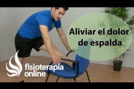 Aliviar el dolor de espalda, ejercicio de flexibilización
