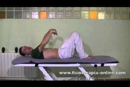 Ejercicio de Descarga y relajación de la espalda y pelvis.