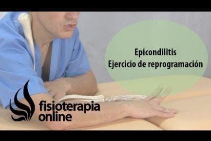 Epicondilitis. Ejercicio de reprogramación o activación de epicondileos