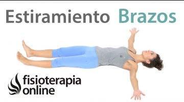 10.Musculatura anterior de los brazos.Estiramiento bilateral (tumbado)