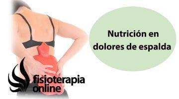 Repercusión de la nutrición en dolores en la espalda