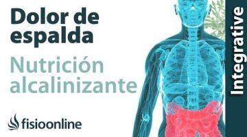 Nutrición alcalinizante y dolor de espalda, muscular y articular