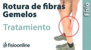 Rotura de fibras del gemelo.Tratamiento con ejercicios, estiramientos y masajes.