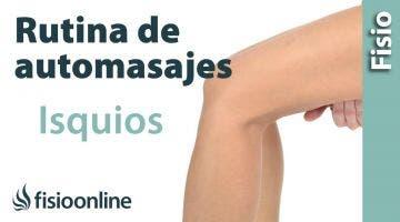 Auto masaje de isquiotibiales mano