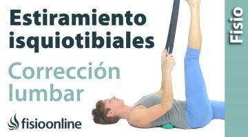 19.Estiramiento de isquiotibiales con apoyo en lumbares.