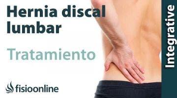 Tratamiento de la hernia discal L4 y L5 izquierda o cuarta y quinta vértebra lumbar