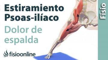 Estiramiento para el dolor lumbar del posas iliaco