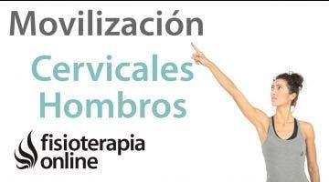 Ejercicio para movilizar cervicales y hombros. Patrón cruzado para cervicales.