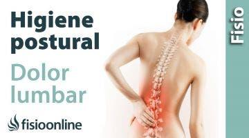 Higiene postural para el dolor lumbar