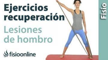 Ejercicio de tonificación o fortalecimiento para recuperación de lesiones de hombro.