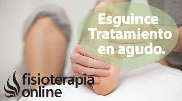 Tratamiento en agudo del esguince de ligamentos del tobillo o torcedura de tobillo.