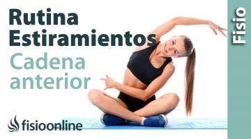 Estiramiento de cadena anterior del brazo, pectoral y bíceps