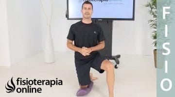 Ejercicio de rodilla de movilidad, propiocepción y fuerza