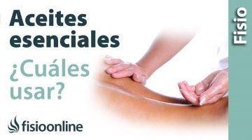 Utilización de aceites esenciales para el masaje y sus efectos y usos.