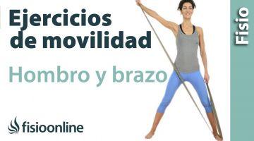 Rutina de ejercicios de auto-movilización de hombro y brazo.