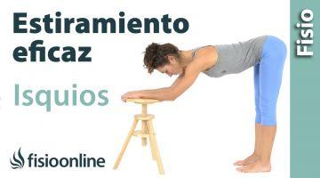 18.Estiramiento de isquiotibiales. Postura de bailarina.